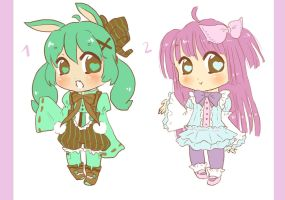 Auction Sweet Girls Adoptables OPEN by LuciaTan