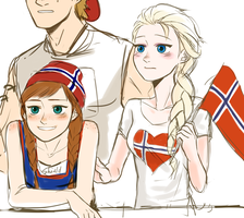 Norway Cheer (non-facepainting) by TDYTG