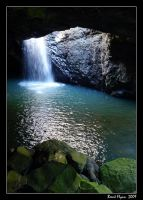 Cave Waterfall by DarthIndy