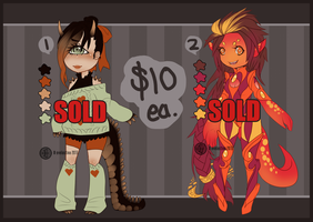 [CLOSED] Monster Girls - $10 by Valkymie