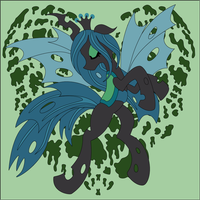 Queen Chrysalis Heart Shadowbox Mock up by The-Paper-Pony
