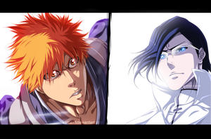 Ichigo and Ishida - bleach 586 (collab) by sAmA15