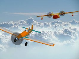 Dusty Crophopper AirTractor by synersignart