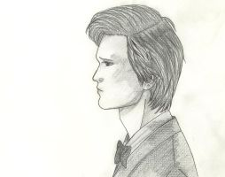 11th Doctor Sketch by AlonDarsSister