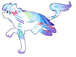 Commission - Rainbow Power Spud by FuyusFox