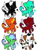 DTA kitties open! by warriorcatniss