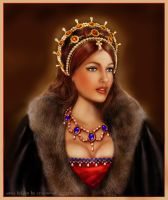 Vanessa Lake as Anna Boleyn by crayonmaniac
