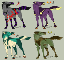 Crazy Canine Adopt Batch 1 - Closed by Cosmic-Adopts