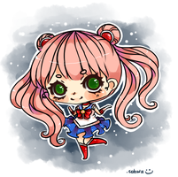 Dressing up as sailormoon by kahwiichan