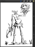 Scarecrow skottie young style on procreate by MattVincent
