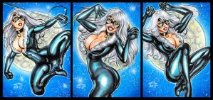 CLASSIC BLACK CAT PERSONAL SKETCH CARDS 11-2015 by AHochrein2010