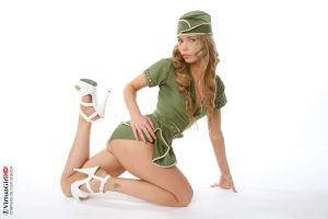 Hot stewardess 3 by Virtuagirl