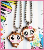 Monkey Necklaces by cherryboop