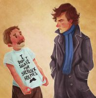 I Don't Shave For Sherlock Holmes by vincentsdeviantart