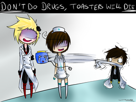 Don't do drugs, toasters die by xCrazyWonderlandx
