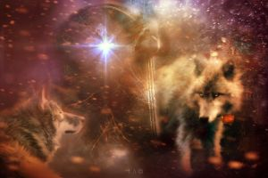 First Light -SERENITY OF THE WOLVES by L-A-Addams-Art