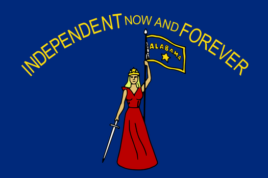 Alabama State Sucessionist flag (1861) by OddGarfield