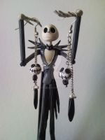 Jack Skellington earrings by mary-DBBC
