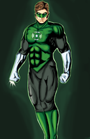 Green Lantern Colored by leaveit2deaver
