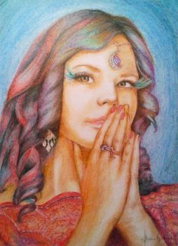 Right here - colored pencils by Niruh