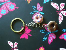 Two Yummy Donuts Key Chain by Queen-Of-Cute