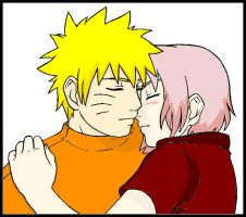naruto and sakura hug by Bleach-Fairy