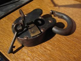 Old Padlock - open right by DungeonStock