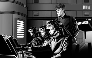 Death Star Command line art by GARTART