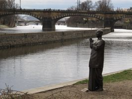 Trip to Prague - Statue of Harmony by Aldenan