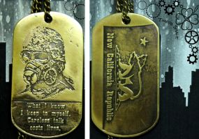 Fallout NCR dog tag by TimforShade