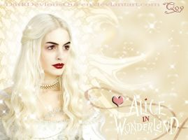 White Queen Wallpaper by QueenDevious
