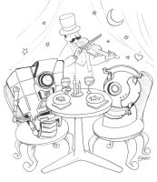 First Date: GLaDos and Claptrap by SimplyErika