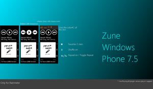 Zune Windows phone 7.5 by Pedro9666