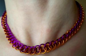 Purple and Orange Half Persian by Divulged