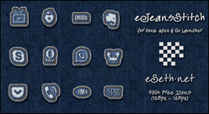 Jeans Stitch Icon Pack Android by gseth