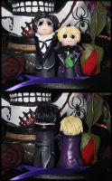Chibi Claude and Alois Sculptures by fallnangeltears