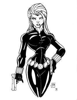The Black Widow by JBourlett