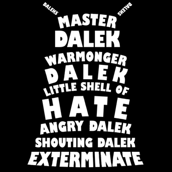 Master Dalek ('Soft Kitty' style) by TheHalfBloodPierrot