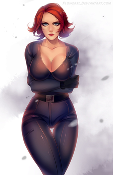COMMISSION: Black Widow Avengers by Flowerxl