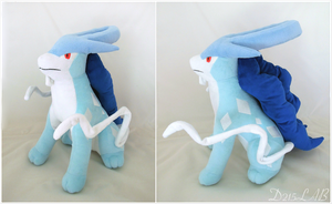 Shiny Suicune Plush by d215lab