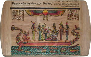 Egyptian Pyrograph (Woodburning) Side 02 - Colour by snazzie-designz