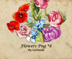 Flowers Png by CuPanda