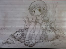 Hidamari Sketch: Yuno as Alice by tehJ4bb3rw0ck