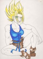 super saiyajin female by tearsofthunder