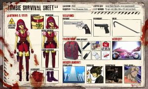 Zombie Survival Sheet: Aki by Reiforizza