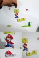 Super Mario on my wall by FuriarossaAndMimma