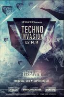 Techno Invasion Flyer Template by MCerickson