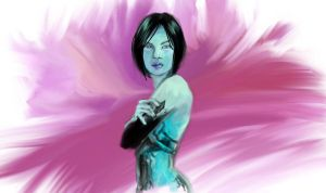 Cortana Daily Sketch by skycladstrega