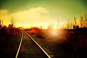 Early morning quiet railway by sunny2011bj