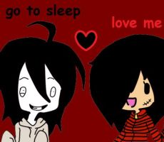 Jeff The Killer And Liz Chibi by bloody-kazu